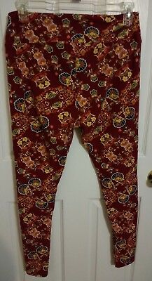 Lularoe TC Tall and Curvy Floral Leggings China VGUC Old Style