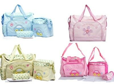 Multifunction Diaper Maternity Baby Nappy Bag 4 Pcs Set With Adjustable  Strap