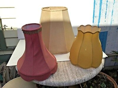 Vintage lamp shades in three different styles