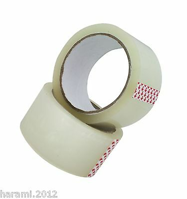 6-36 Casters Adhesive Tape Quiet 66M x 50mm Packing Transparent