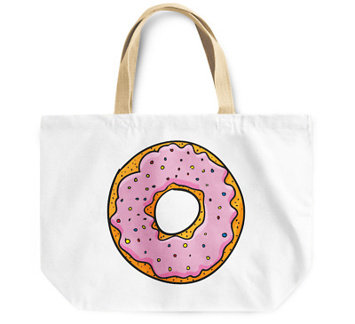 Tote Bag Sprinkle Donut Durable sturdy Grocery Shopping Bag Everyday Use