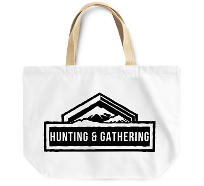 Tote Bag Hunting and Gathering Reusable Canvas Grocery Shopping Bag