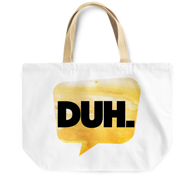 Tote Bag Duh Durable sturdy Grocery Shopping Bag Everyday Use