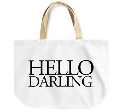 Tote Bag Hello Darling Durable sturdy Grocery Shopping Bag Everyday Use