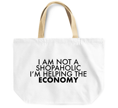 Tote Bag am not a shopaholic im helping the economy Durable Grocery Shopping Bag
