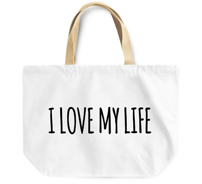 Tote Bag I love my Life Durable sturdy Grocery Shopping Bag Everyday Use