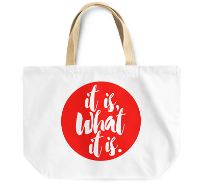 Tote Bag It is what it is Canvas Shoulder Bag Everyday Use