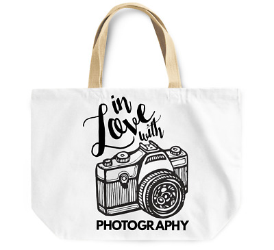 Tote Bag In love with Photography camera Canvas Shoulder Bag Everyday Use