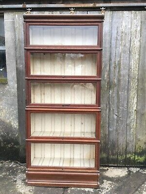 Stunning 5 tier Globe Wernicke bookcase with original base and top