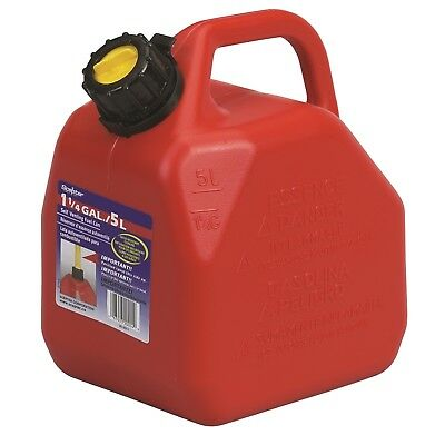 Scepter JERRY CAN 5L Lightweight, Crush Proof Design, Self-Venting Spouts RED