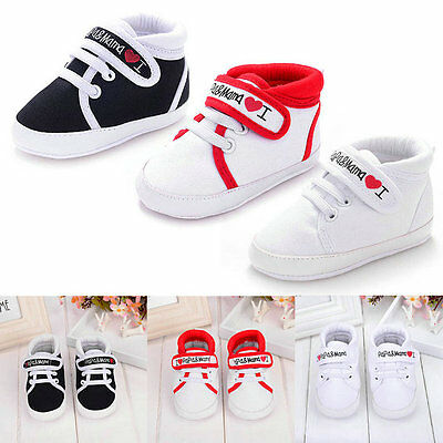Lovely Toddler Baby Boy Girl Kids Soft Sole Shoes Laces Sneaker Newborn 0-18M