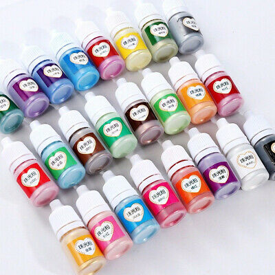 12 Colors Metallic Pigment Powder UV Resin Epoxy Jewelry Silicone Shiny Glitter