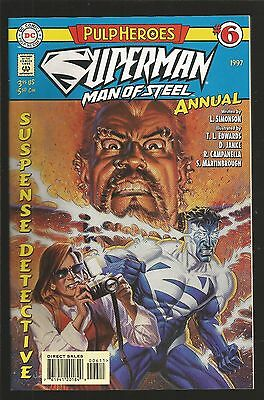 Superman The Man Of Steel Annual 6 1997 DC Pulp HEroes