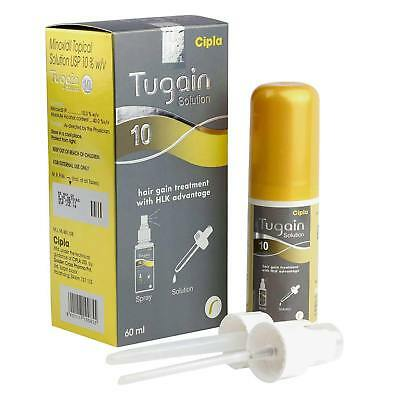 Tugain 10% Minoxidil by Cipla Hair Loss Regrowth Promoter For Men