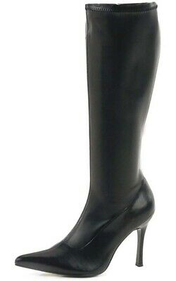 Lust Black High Heel Boots Shoes Adult Womens Fancy Dress Costume Acccessory