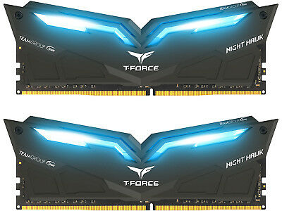 Team T-Force Night Hawk 16GB 2x8GB DDR4 3000MHz Memory RAM THBD416G3000HC16CDC01