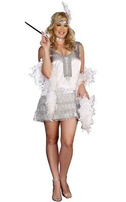Adult Womens Plus Size Flapper 1920S Charleston Gangster Halloween Costume