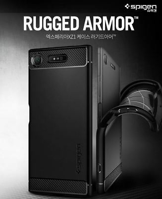 Spigen Rugged Armor Slim Soft Protect Cover Sony Xperia XZ1 XZ3 XZ Premium Case