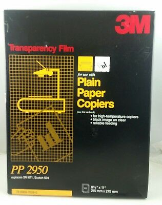 "3M Transparency Film For Copiers PP2950, 90 sheets left out of100, 8.5"" x 11"""