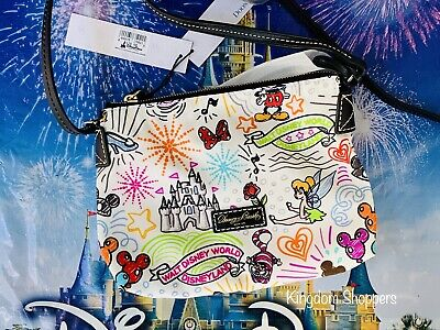 DISNEY DOONEY & Bourke Sketch Satchel Bag Mickey Minnie