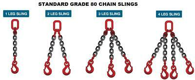 Lifting Chain Sling 8mm Grade 80 with/without shortening clutch Certified