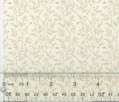 Dollhouse Miniature 1:24 Wallpaper Cherry Blossom by Brodnax Prints