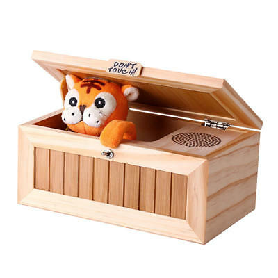 NEW Funny Hilarious Tiger in a Box with Sound Cute Funny Gift Stress