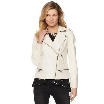 2091efc1351 G by Giuliana Women s Ultra Luxe Non-stretch Faux Moto Jacket Large Size HSN