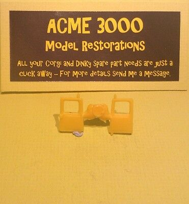 Dinky 274 Mini AA Patrol Service Van ReproductionRepro Yellow Plastic Rear Doors
