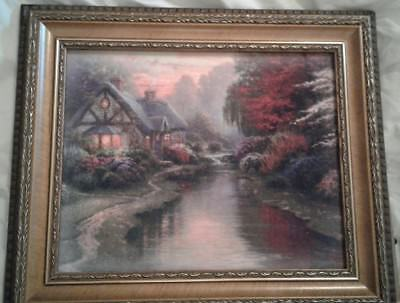 A Quiet Evening Canvas Painting by Thomas Kinkade in 10x12 Frame