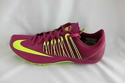 Nike Zoom Celar 5 Track Sprint Spikes, Penn Relay, Purple/Green, Men's 9, 11