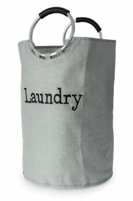 Blue Canyon Bathroom Linen Affect Laundry Bag Basket with Handles - Grey