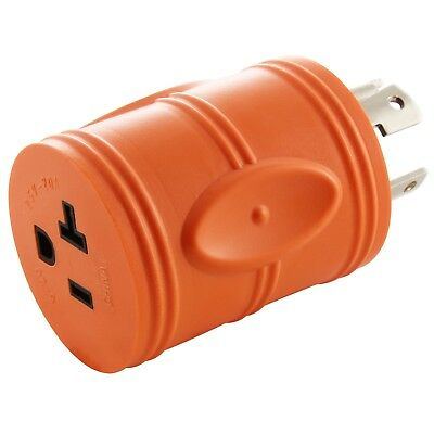 AC WORKS [ADL1430520] L14-30P 30Amp 4-Prong Plug to Household 15/20Amp outlet
