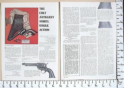 1976 THE COLT ARTILLERY MODEL SINGLE-ACTION Revolver 3-Pg MAGAZINE ARTICLE 2652
