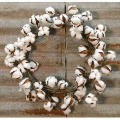 """Country Cotton Wreath 22"""""""