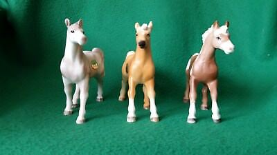 Set of 3 Enesco Ceramic Horses.  Arab, Pinto and Palomino