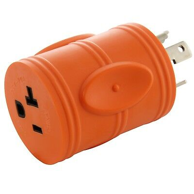 AC WORKS ADL530520 L5-30P 30Amp Locking Plug to Household 15/20Amp Outelt