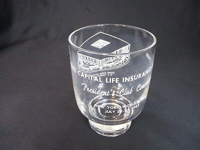 New York's World Fair 1964-1965 State Capital Life Insurance Company Drink Glass