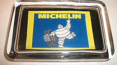 Michelin Man Waving Rolling Tire Oil Gas Advertising Sign Glass Paperweight