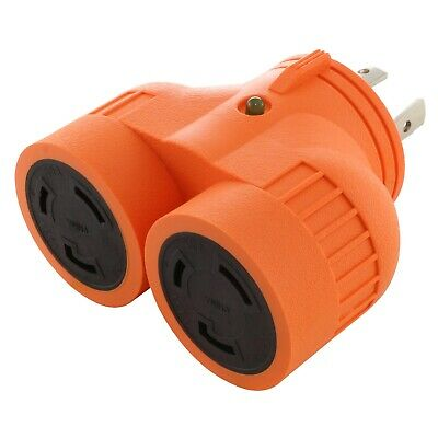 VDUO Multi Outlet Generator Adapter NEMA L14-30R to 2 NEMA L5-30R by AC WORKS™