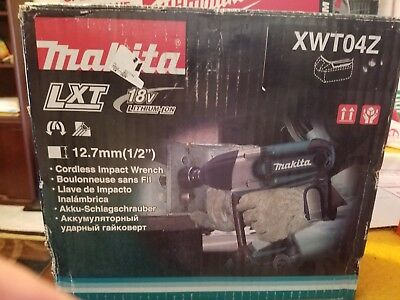 Makita XWT04Z 18V Cordless LXT Lithium-Ion 1/2 in. Impact Wrench (Bare Tool) New