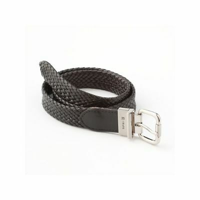 Chaps Boys Belt Reversible Braided Leather Black Brown size M 26-28 L 30-32 NEW