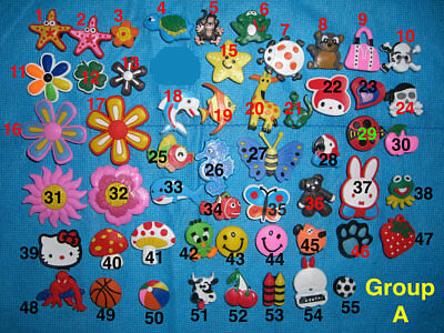 Animals, Fishes, Flowers, Balls Single Cartoons Shoe Charms for Jibbitz