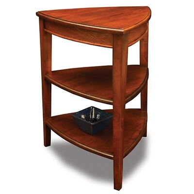 Corner Accent Side End Table Storage Shelves Display Stand Small E Wood New