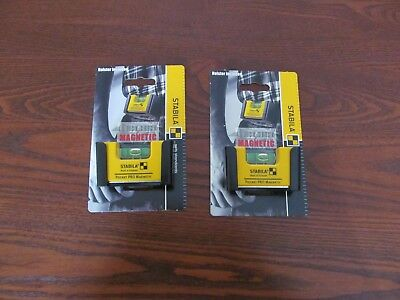 Stabila Pocket Pro Magnetic level  2 Pack  with holster  11901