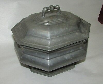 Old or Antique Signed Pewter Box