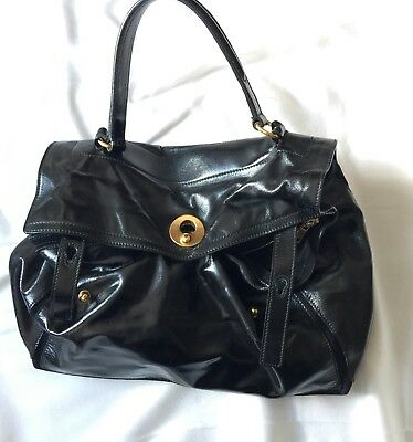 cb781764d256 YVES SAINT LAURENT YSL Muse Two Bag Black Patent Leather -  550.00 ...