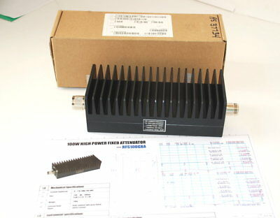 RF-LAMBDA RFS100G4A25NMF DC-4GHz 100 Watt Fixed Attenuator NEW   (X1)K