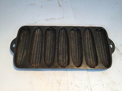 Vtg Wagner Ware Junior Sidney 1319 Cast Iron Krusty Korn Kobs Corn Bread Pan