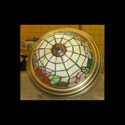 Stained Glass Semi-Flush Mount Ceiling Lamp Chandelier ~ Tiffany Style
